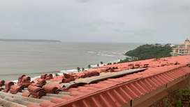 2bhk sea view apartment at dona Paula