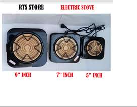 """Electric Stove or Chullah 9"""" + POWER CABLE inch Chullah Cooker No Gas"""