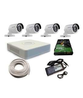 4CH CCTV Camera installation-