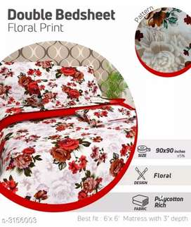 Poly cotton double bedsheets