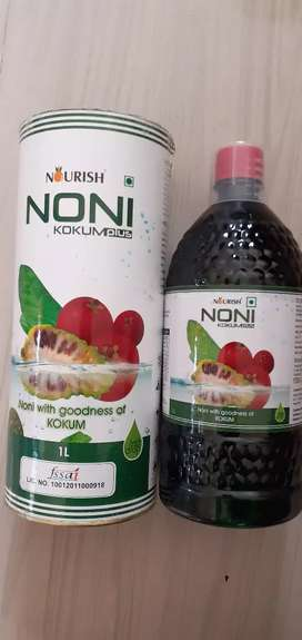 NONI WITH KOKUM JUICE. 1L - ₹ 1,949/- || 500 ML - ₹ 999/-
