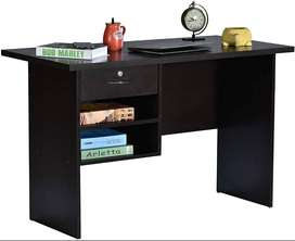 Deckup Giona Office Desk and Study Table (Dark Wenge, Matte Finish)