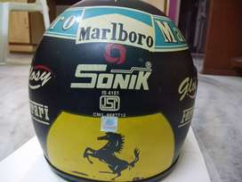 Sonic Helmet Ferrari logo for racing fan