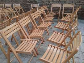 Wooden folding  Chairs and Tables for Cafe urgnt sale