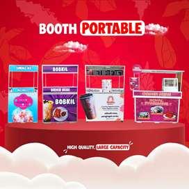 Booth Container Rombong Gerobak Custom Media Promosi Berjualan Menarik