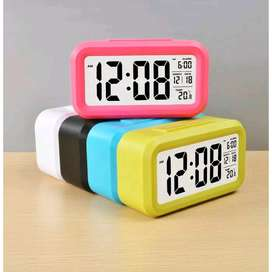 Jam weker digital Destop smart clock meja / dashboard mobil