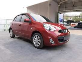 [DP MINIM] Nissan March 1.5 At 2015 merah Matic, Pajak Panjang TERAWAT