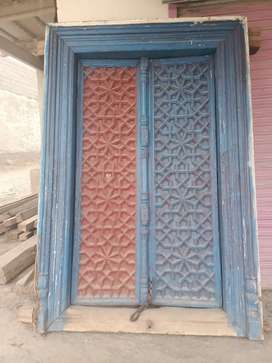 Old Diyar wood main gate for sale in old antique size door