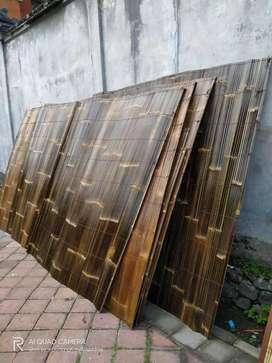 Jual krey bambu hitàm segala ukuran 1m persegi