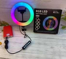 Lampu RGB LED Ring Light Selfie Youtuber