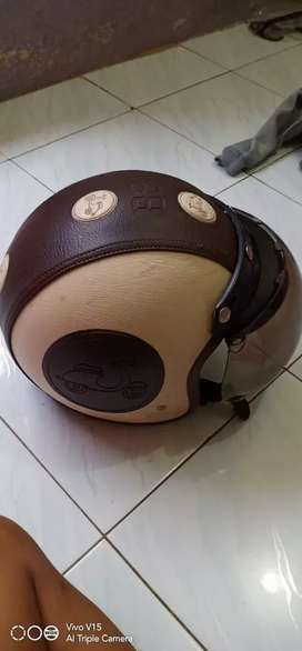 Helm Bogoo retro coklat
