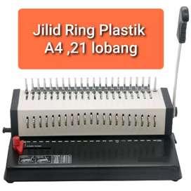 Mesin Jilid Spiral Plastik A4 Gemet 21H