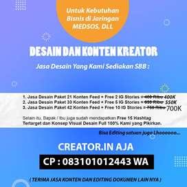 Jasa Editing dan konten creator