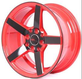 Velg NE3 JD265 HSR R15X7 H8X100-114,3 ET30 RED/BLACK FACE