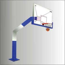 Basketball tempered Glass board with Ring