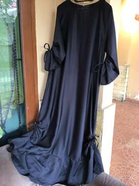 Dress or Gamis Serut hitam, msh kayak baru, balotelli, busana muslim