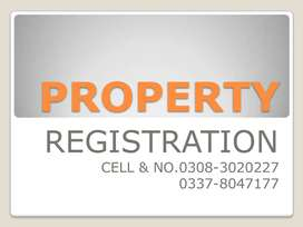 PLOT, BUNGALOW, FLAT, SHOP , FORM HOUSE  OR ANY PROPERTY REGISTRATION