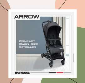 Stroller Kereta Bayi BabyDoes CH-HT 1334 SN Arrow (Dark Grey)