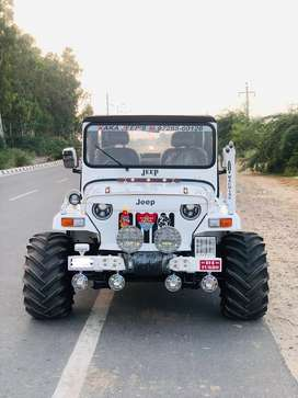 Modified willys in white colour