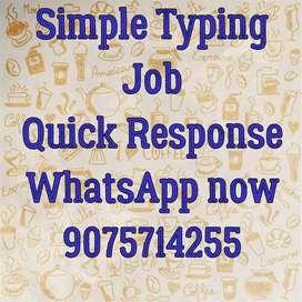 offline Simple typing job apply now