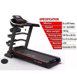 Best 3 in 1 Treadmill Total TL 123M + Dumble Set 20 Kg Paket Keluarga