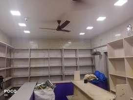 Iron,shelf,False ceiling light