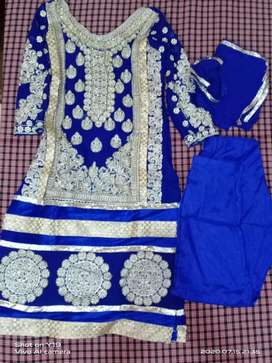 Pure suit including plazo ,suit and dupatta