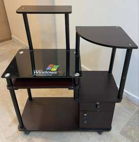 Glass Computer Trolly and Table