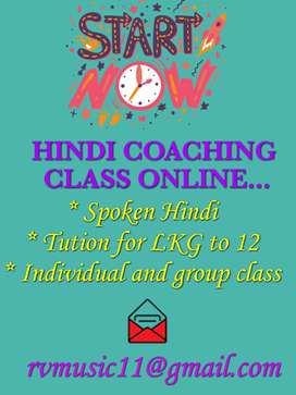 Hindi Coaching Classes Online..