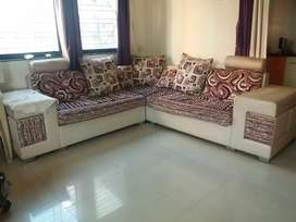 Specially made good condition sofa with 4 stools just 4 years old.