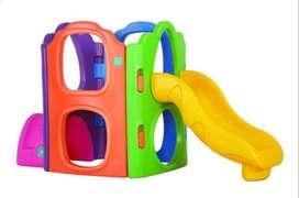Mainan Playground Anak Terowongan Dengan Perosotan Warna Warni