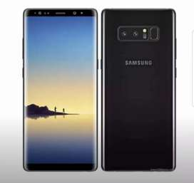 Note 8 Black Color 256 gb With all accessories.