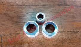 Ring Tombol Bulat AC & Audio BMW F10 Silver