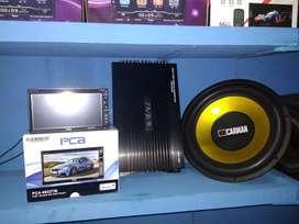 Paket doubledin tv mirorlink power subwofer