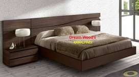 modern Designer Bed WITH side table dressing Fix price shop