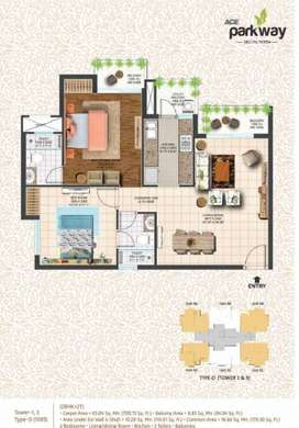 2BHK Flat for Sale in Ace Parkway in Noida Sector 150