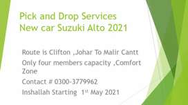 Pick and Drop Services New Car Suzuki Alto 2021