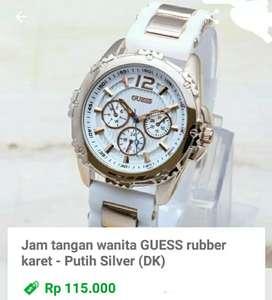 Jam tangan wanita Guess Rubber karet