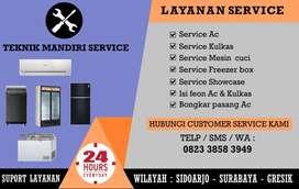 Service AC Mesin cuci Kulkas, Bongkar/Pasang AC, Isi freon AC Showcase