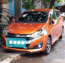 Mobil bekas city car daihatsu ayla tipe R matic AT  2017 orange
