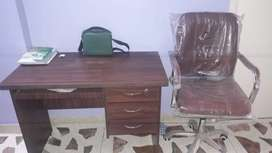 Office table and chair new condition