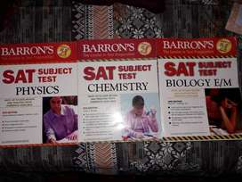 Barrons SAT books (Physics, Chemistry and Biology)