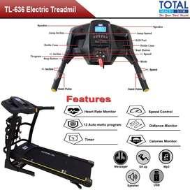 Treadmill Elektrik TL636 Autoincline Sidoarjo