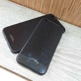 Case Glass Polos Black Super Elegan Casing Cover iPhone 6s/6