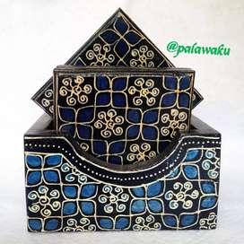 Tatakan Gelas motif Batik