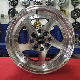 Velk Celong HSR R15 Pcd 8x100-114,3 Buat Mobil Brio,Ignis,Baleno dll