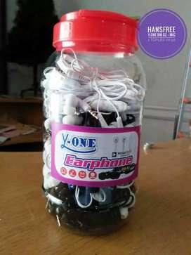 Grosir handsfree y-one bm02 +mic 1 toples isi 50pcs