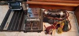 Paket Head Unit Pioneer plus 2 ampli plus kabel
