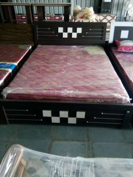 Brand new queen size bed with mattress at very cheap price
