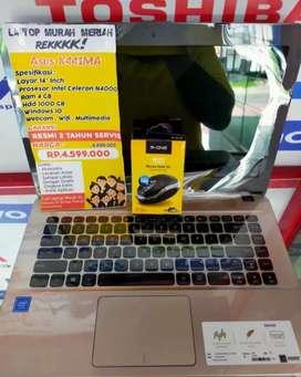 Laptop baru bergaransi resmi